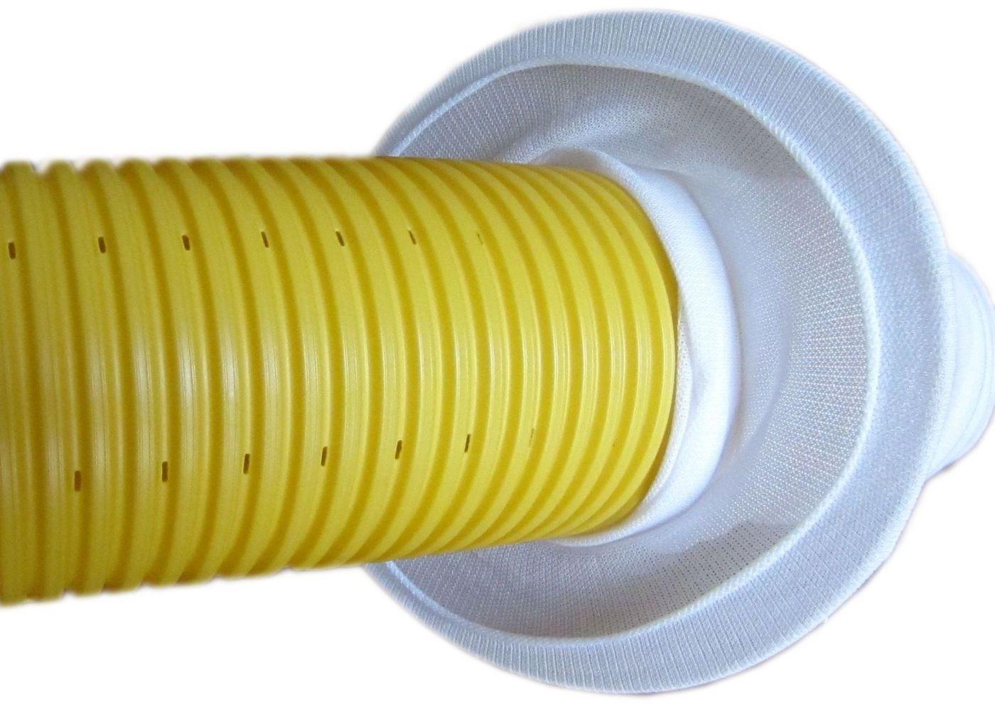 50 m drainage filter sock drain sleeve for drainage pipes dn 80 wetzel technische netze. Black Bedroom Furniture Sets. Home Design Ideas